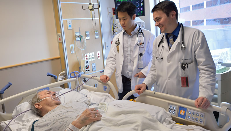 Ward team at the bedside